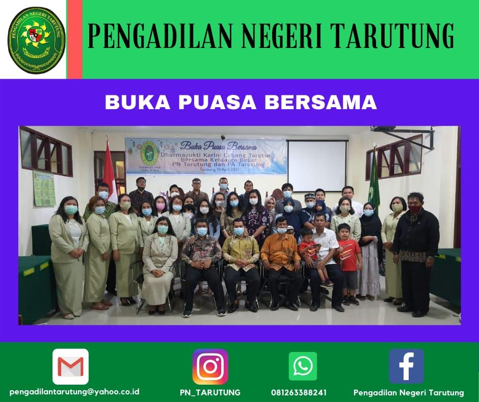 Buka Puasa Bersama Keluarga Besar Pengadilan Negeri Tarutung dan Pengadilan Agama Tarutung